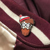 "030. ""Original Hipster"" Pin by ClayGrahamArt"