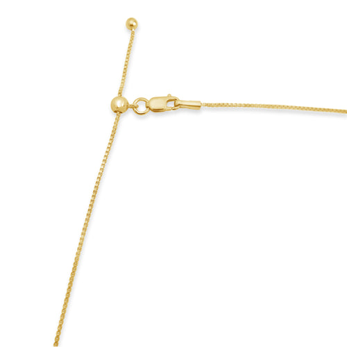 "Gold Adjustable 24"" Thin Box Chain"