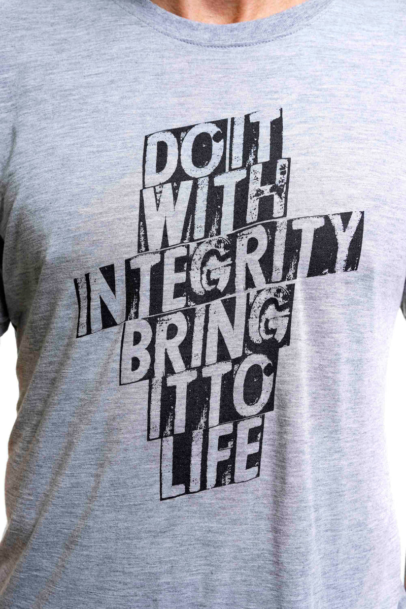 Bamboo Do It With Integrity Bring It To Live Tee Grey Mens