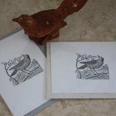 Ampersand Art Letterpress - Cottage Bird