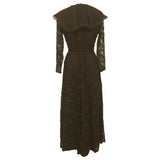 Jean Allen chocolate brown late 1970s evening dress - Vintage Clothing, Vintage Stock, Vintage Dresses, Vintage Shoes UK