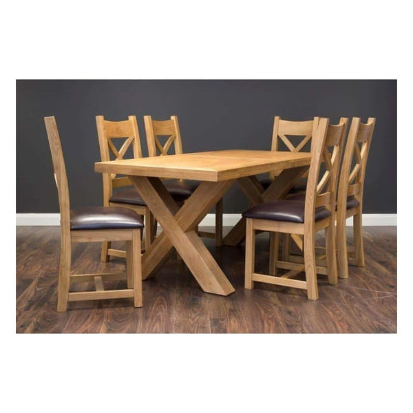 X Dining Table 1.5M - Furniture