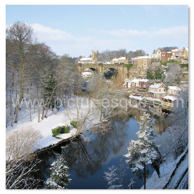 Knaresborough Viaduct in Winter Christmas cards