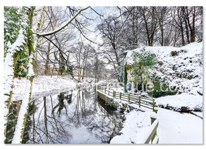 Mother Shiptons Knaresborough in the Snow Christmas Card