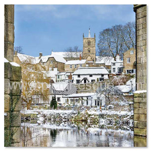Knaresborough 'Window on Waterside' Blank Mini Notecards