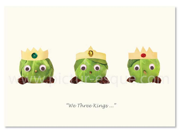 We Three Kings sprout Christmas cards