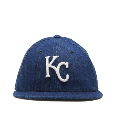 TODD SNYDER + NEW ERA MLB KANSAS CITY ROYALS CAP IN CONE DENIM