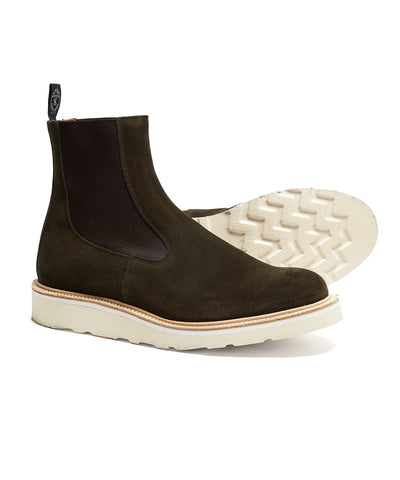 Tricker's Stephen Chelsea Boot in Earth Suede