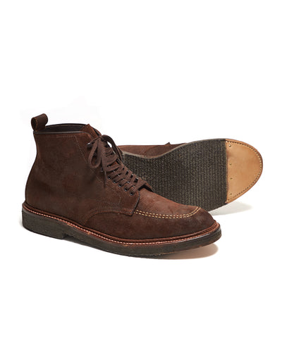 Alden x Todd Snyder Exclusive Indy Boot in Reverse Tobacco Chamois