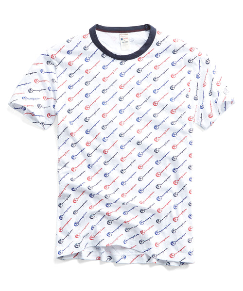 Champion All Over Graphic Tee in White