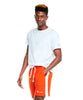 Warm Up Short With Side Panels in Sunset Orange Alternate Image
