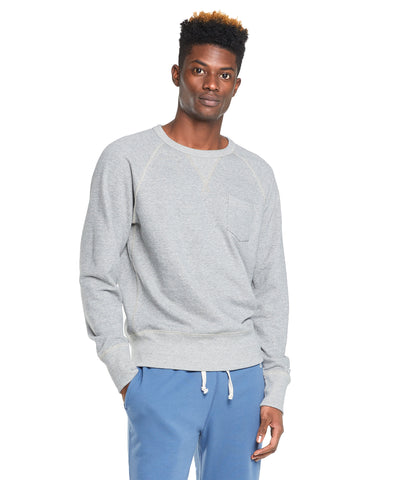 Terry Pocket Sweatshirt in Light Grey Mix