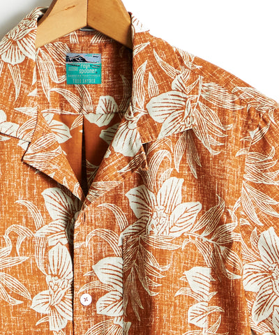 Exclusive Todd Snyder + Reyn Spooner Short Sleeve Shirt in Rust Floral