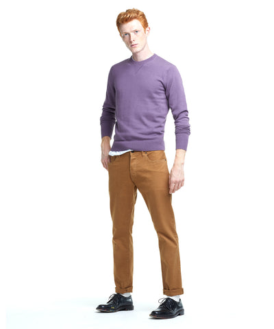 Slim Cotton Cashmere Sweater in Lavender