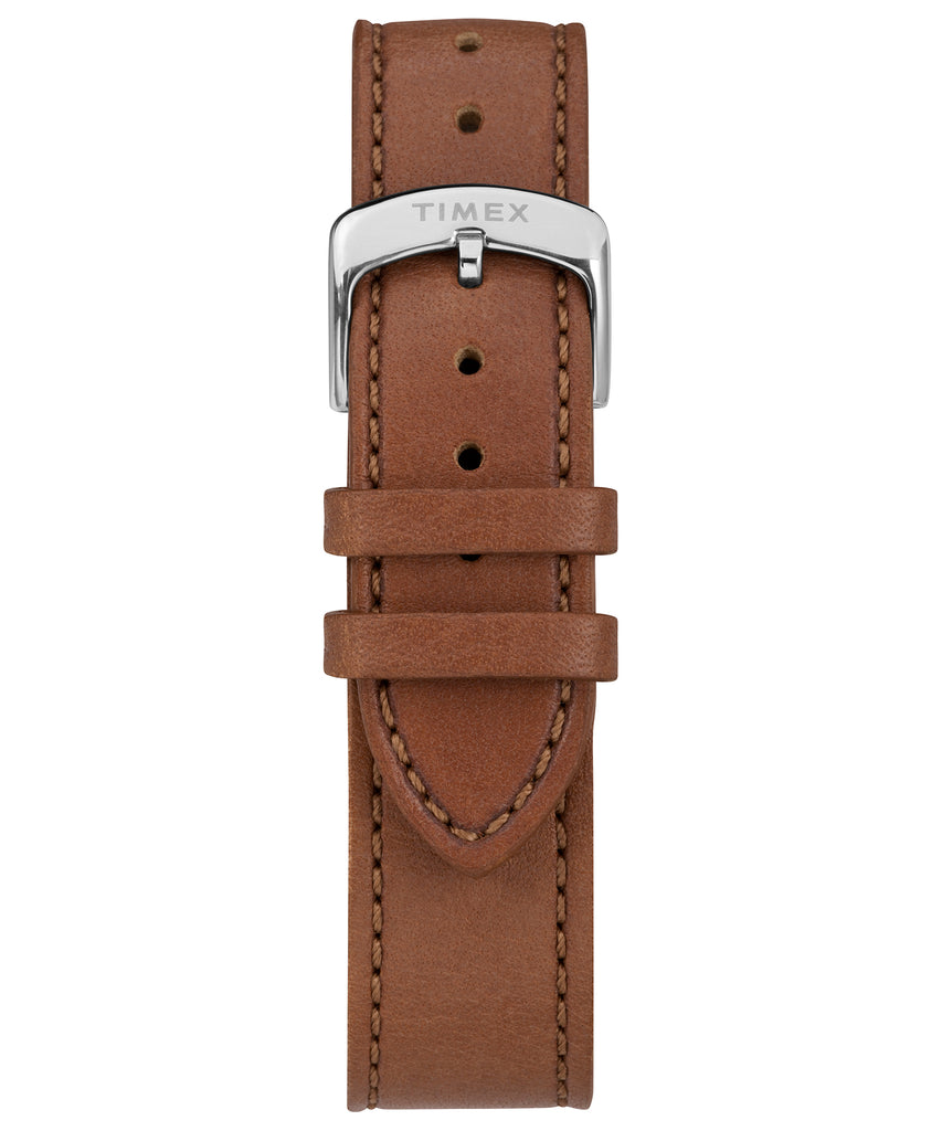 Timex American Documents™ 41mm Brown Leather Strap Watch