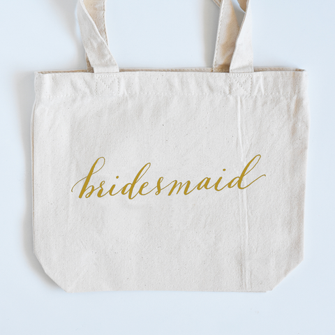 Lettered Small Tote