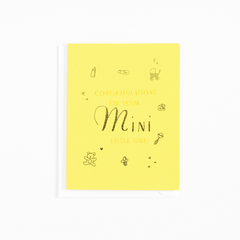 Your Mini Card - yellow