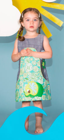 Dandy A-Line Dress - Elephant Appliqué