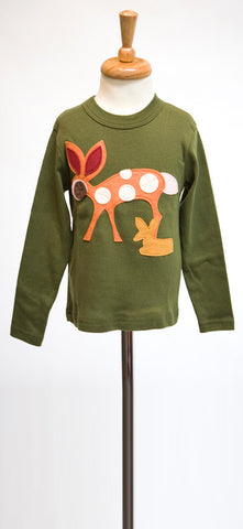 Olive Doe a Deer Felt Applique Tee or Onesie