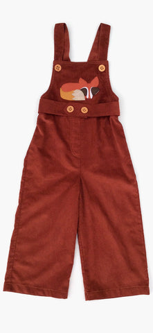 Oliver Overalls with Fox Applique