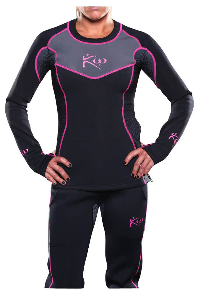 Women's Neoprene Sauna Shirt Side