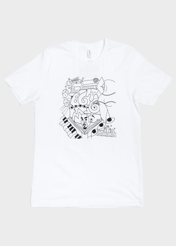 Short Sleeve T-Shirt White Print