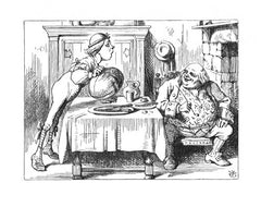 Sir John Tenniel for Lewis Carroll - 'Yet you finished the goose, with the bones and the beak -'