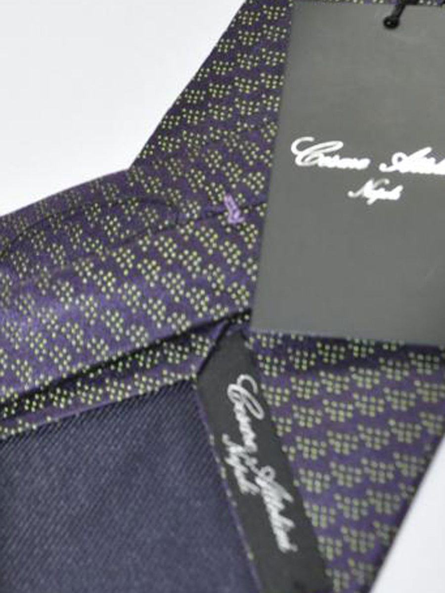 Cesare Attolini Tie Purple Lime Geometric