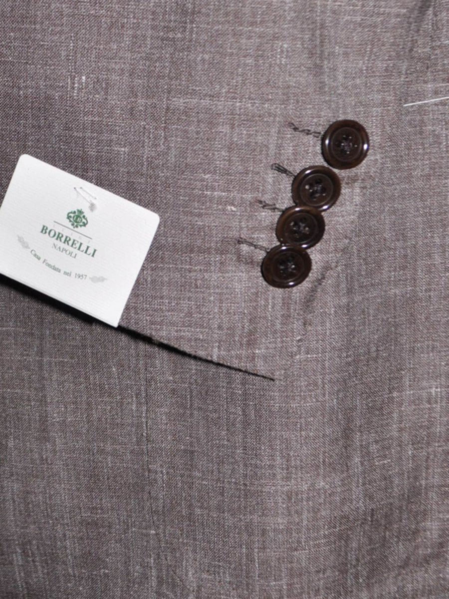 Luigi Borrelli Sport Coat Brown Gray Linen Silk