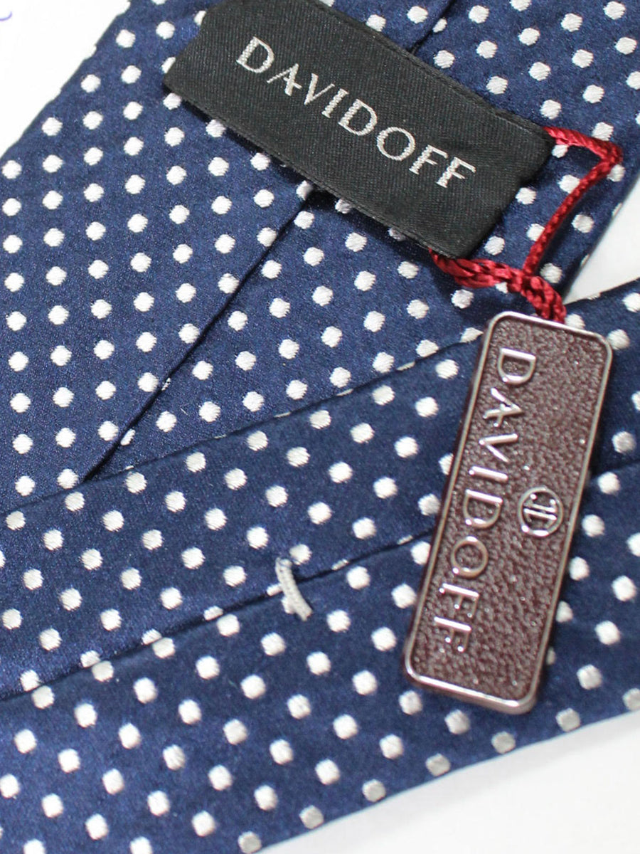Davidoff Tie Navy White Dots - Hand Made In Italy
