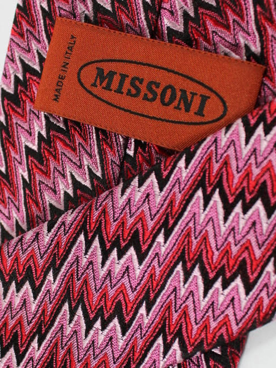 Missoni Tie Pink Red Design