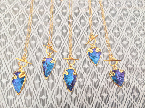 Mini Bioluminescence Arrowhead Necklace