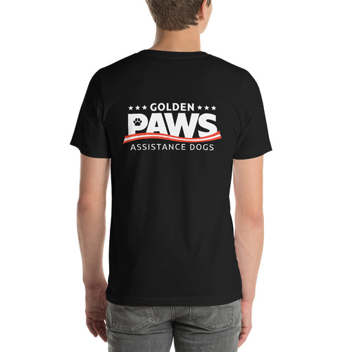 Golden PAWS Dorm Staff Logo T-Shirt - Dark Colors