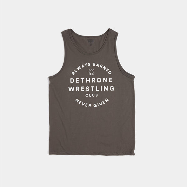 Dethrone, ALWAYS EARNED TANK - Charcoal