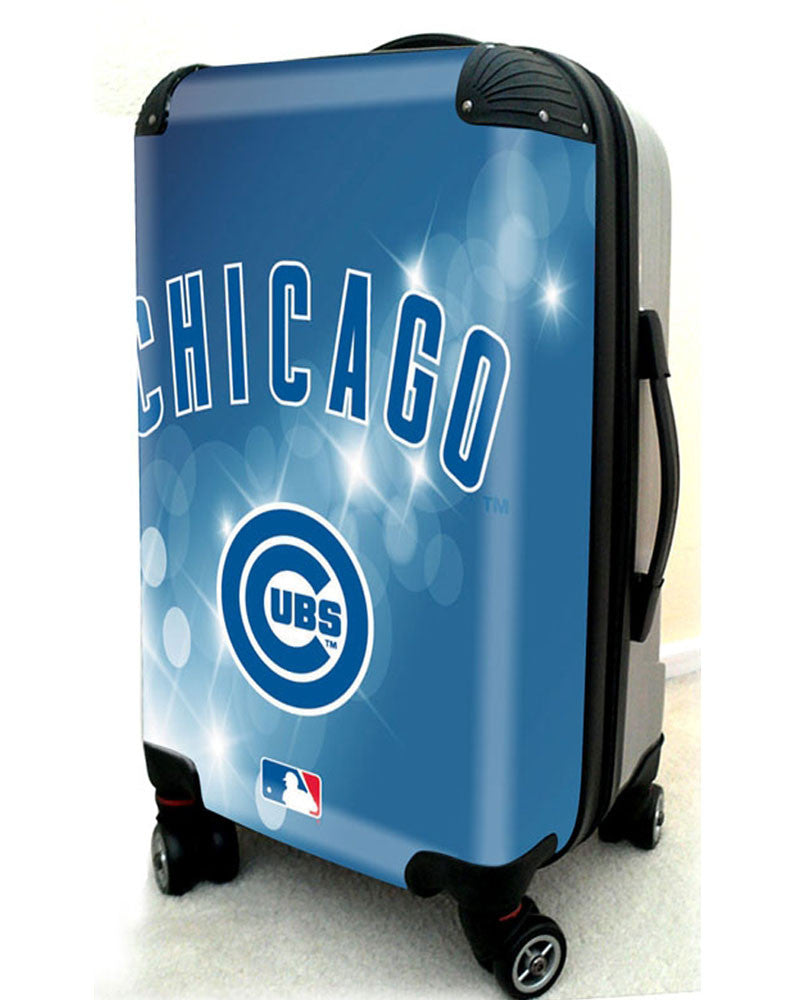 "Chicago Cubs, 21"" Clear Poly Carry-On Luggage by Kaybull #CUB7 - OBM Distribution, Inc."