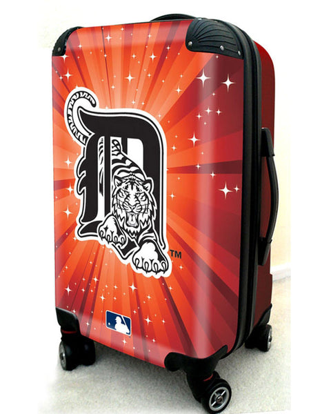 "Detroit Tigers, 21"" Clear Poly Carry-On Luggage by Kaybull #DET13 - OBM Distribution, Inc."