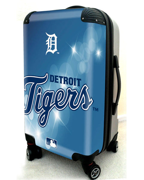 "Detroit Tigers, 21"" Clear Poly Carry-On Luggage by Kaybull #DET9 - OBM Distribution, Inc."