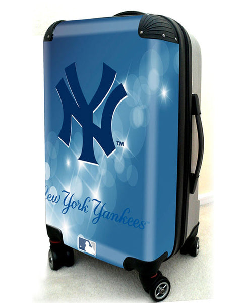 "New York Yankees, 21"" Clear Poly Carry-On Luggage by Kaybull #NYY11 - OBM Distribution, Inc."