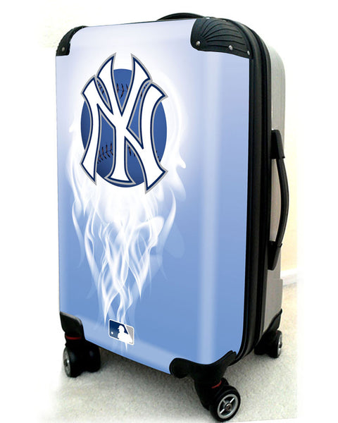"New York Yankees, 21"" Clear Poly Carry-On Luggage by Kaybull #NYY8 - OBM Distribution, Inc."