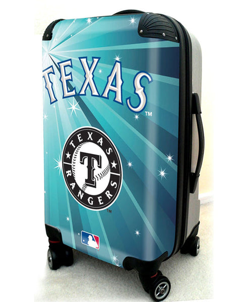 "Texas Rangers, 21"" Clear Poly Carry-On Luggage by Kaybull #TEX11 - OBM Distribution, Inc."