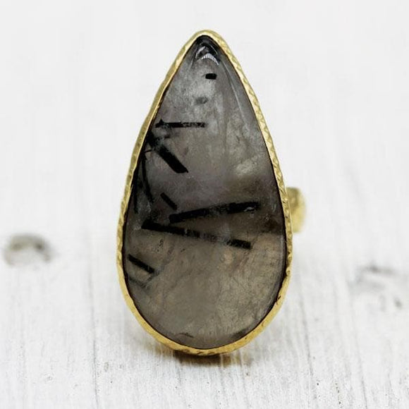 Tourmaline Quartz Ring