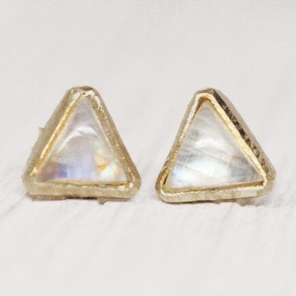 Petit Pyramid Earring : Moonstone