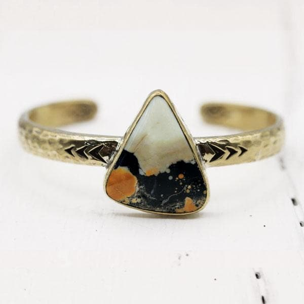 Heirloom Cuff || White Horse Jasper