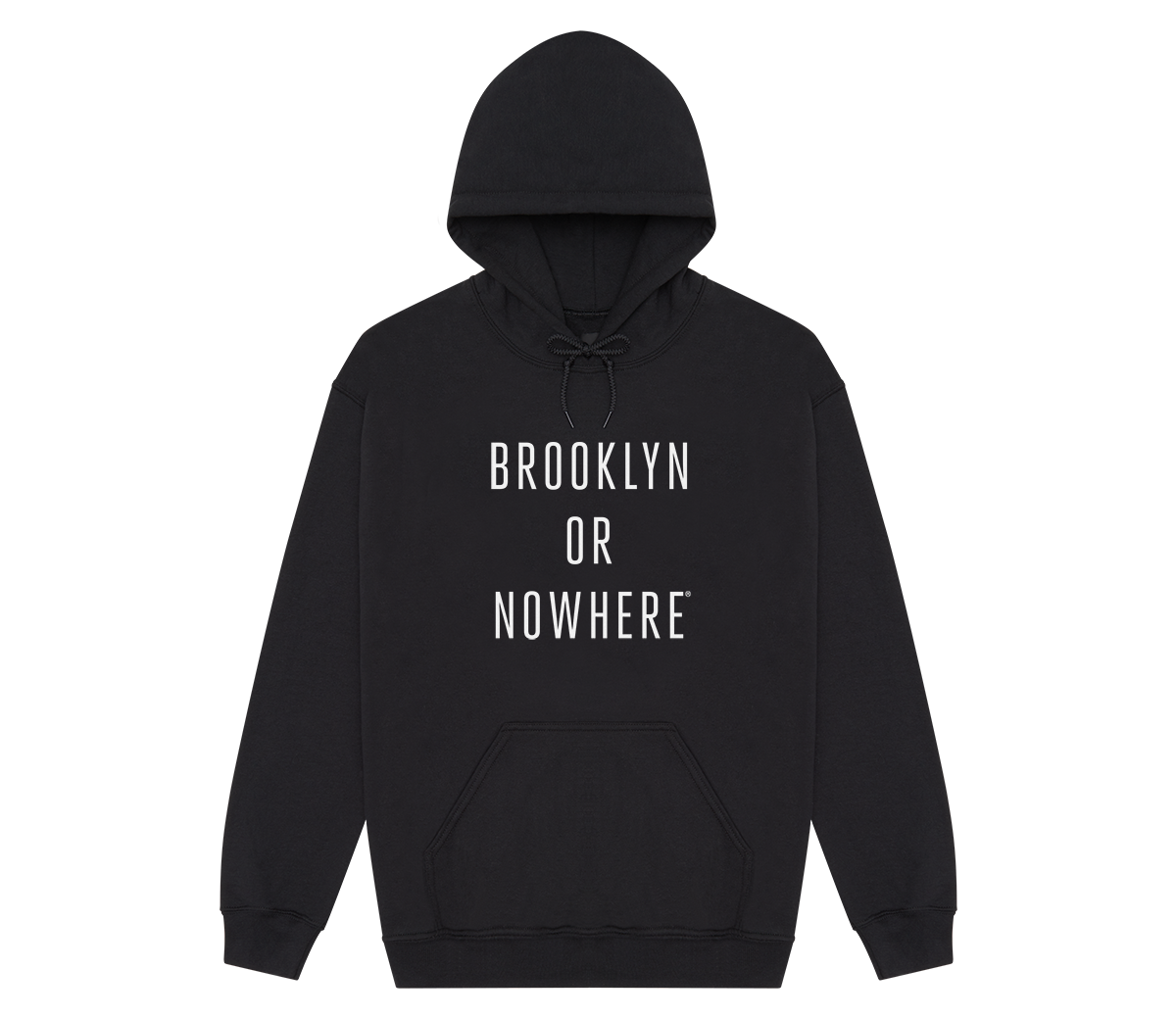Brooklyn or Nowhere® Hoodie (Black/White)