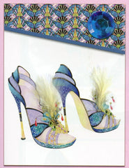 Notepads and sticky notes with stiletto shoes. Notepad gifts for shoe lovers.