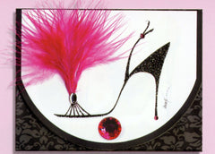Notepads with stiletto shoe designs. Notepad gifts for shoe lovers.