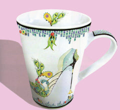 Coffee mug with stiletto design. Gifts for shoe lovers.