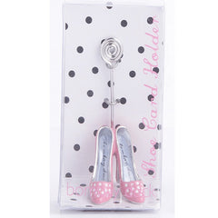 Place card holder with stiletto shoes. Place card holder for shoe lovers.