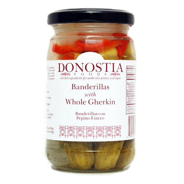 Banderillas with Whole Gherkin - Donostia Foods