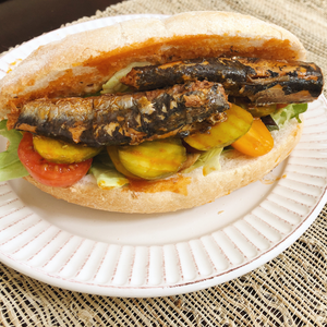 Spiced Sardines Po' Boy